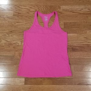 Nike pink racerback fitted M tank top